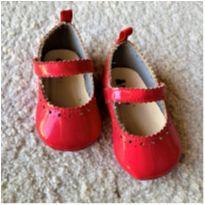 MT - 5580 - Sapatinho vermelho Baby Gap – Menina 18/19 - 18 - Baby Gap