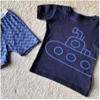 MT - 5634 - Pijama Baby Gap – Menino 5 anos – submarino - 5 anos - Baby Gap