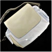 5688 - Bolsa de bebê – branco e manteiga. -  - Nacional