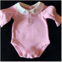 5838 - Body rosa – Menina RN – Pinguim - Recém Nascido - sem etiqueta