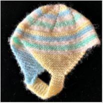 5828 - Gorro touca Atelier do bebê – Unissex – 6/9 meses - 6 a 9 meses - Atelier do bebê