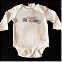 5844 - Body Baby Gap – Menina 0 a 3 meses – I Love Mommy - 0 a 3 meses - Baby Gap