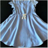 5864 - Vestido azul H & M – Menina 5/6 anos - 5 anos - H&M