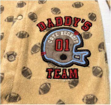 5874 - Macacão Carter's – Menino RN – Daddy`s Team - Recém Nascido - Carter`s