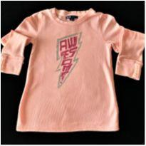 5904 - Blusa Gap Kids – Menina 6-7 anos – Awesome - 6 anos - GAP