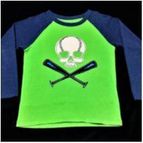5971 - Blusão Baby Gap – Menino 5 anos – Caveirão baseball Club - 5 anos - Baby Gap