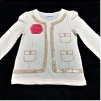 6062 - Blusa Baby Gap – Menina 3 anos – Casaquinho - 3 anos - Baby Gap