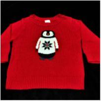 6238 – Suéter Carter's – Menino 6 meses – Pinguim - 6 meses - Carter`s