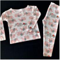6296 – Pijama Carter's – Menina 24 meses – Elefantinhos