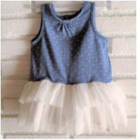 6427 – Vestido Baby Gap – Menina 3 a 6 meses - 3 a 6 meses - Baby Gap
