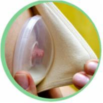 6480 - Conchas flexíveis para amamentação Ibimboo . -  - Nacional