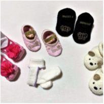 6625 – Kit de meias – Menina 3 a 6 meses - 3 a 6 meses - Diversas