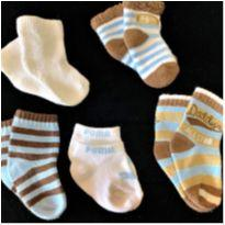 6633 – Kit de meias – Menino 3 a 6 meses - 3 a 6 meses - Diversas