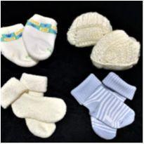 6751 – Kit de meias – Menino 3 a 6 meses - 3 a 6 meses - Várias