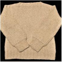 6843 – Suéter bouclê bege em tricô – Menina 14 anos - 14 anos - Artesanal