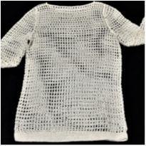 6850 – Blusa manteiga em crochê – Menina 14 anos