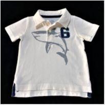 6969 – Camisa Carter's – Menino 6 meses – Tubarão - 6 meses - Carter`s
