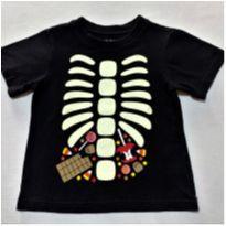 6974 – Camiseta Place – Menino 18 a 24 meses – Eskeleto florescente - 18 a 24 meses - Place