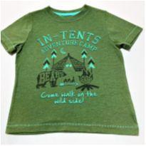 7062 - Camiseta Arizona Jeans – Menino 4 anos – Acampamento - 4 anos - Arizona Jeans - USA