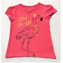 7048 – Top Old Navy – Menina 3 anos – Flamingo… OOH LA – LA! - 3 anos - Old Navy