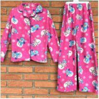 4714 - Pijama fleece Importado 2 peças - Menina 7/8 anos – Boneco de Neve - 7 anos - Importado