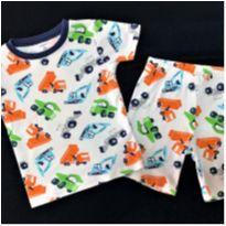 7109 – Pijama Carter's – Menino 5 anos –Tratores & Caminhões - 5 anos - Carter`s