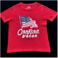 7137 – Camiseta Oshkosh – Menino 5 anos – Bandeira Americana - 5 anos - OshKosh