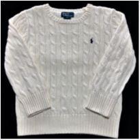 7161 – Suéter branco Ralph Lauren – Unissex 5 anos - 5 anos - Ralph Lauren