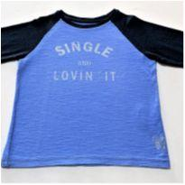 7152 – Camiseta Mini Urban Style – Menino 6 anos – Solteiro e Apaixonado - 6 anos - Urban&Co.