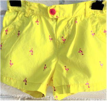 7182 – Short Carter's – Menina 6X – Flamingos - 6 anos - Carter`s