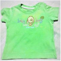 7219 – L75 - Camiseta Verdinha Teddy Boom – H – 3 a 6 meses - Baby Boy