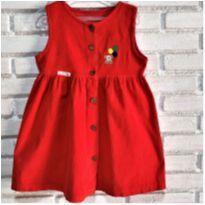 7248 – Vestido vermelho – Menina 4 anos – Ursinho & Balões coloridas