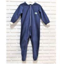 7303 – Macacão pijama  com pé Milho Verde – Menino 5 anos - 5 anos - Milho Verde