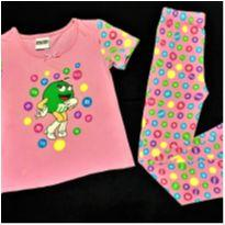 7417 – Pijama duas peças M&M – Menina S - 5-6 anos