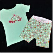 7782 – Pijama Old Navy – Menina 3 anos – Tartaruga & Passarinho - 3 anos - Old Navy