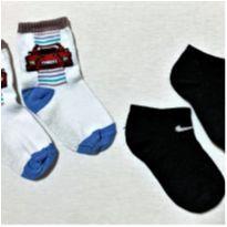 8037 – Duo de meias para menino – 4 a 5 anos - 4 anos - Diversas
