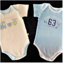 8178 – Dupla de bodies – Teddy Boom – Menino 3 a 6 meses - 3 a 6 meses - Teddy Boom