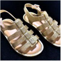 8458 – Sandãlia Mini Melissa Flox dourada – Menina 23-24 - 23 - Melissa