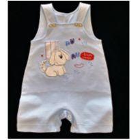 8476 – Jardineira Aconchego do Bebê – Menino 3 a 6 meses – Cãozinho alegre - 3 a 6 meses - Aconchego do Bebê