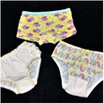 8594 – Trinca de calcinhas – Menina 2-3 anos - 24 a 36 meses - Diversaa