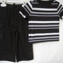 429 - Combinado: Calça Garanimals-Camiseta Old Navy P&B -12/18M - 12 a 18 meses - Old Navy e Garanimals
