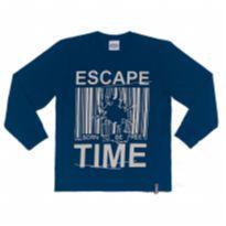 Camiseta Abrange Blusa Manga Longa Infantil Masculina 06881 tamanho 8 - 8 anos - Abrange