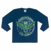 Camiseta Abrange Blusa Manga Longa Infantil Masculina 06878 Tamanho 06 - 6 anos - Abrange