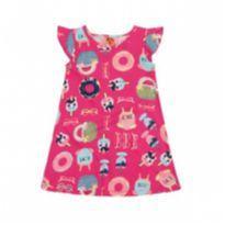 Vestido Infantil Elian Tamanho P bebê 21913 cor 4199 - 3 meses - Elian