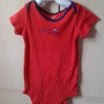 Body manga curta Carter`s vermelho - 2 anos - Carter`s