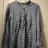 Blusa / Camisa bata xadrez flanelada - M - 40 - 42 - Outras