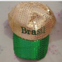 Boné Brasil com paetês