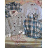 Lote de camisas social - Tam 24 meses - 2 anos - Carter`s e Baby Gap