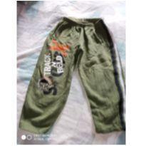 Calça moletom verde com faixa na lateral - Tam 2/3 anos - 2 anos - Outras