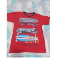 Camiseta vermelha gola redonda - 4 anos - Não informada